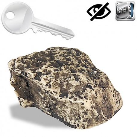 Geheimversteck in Stein. Ideal für den Ersatzschlüssel.