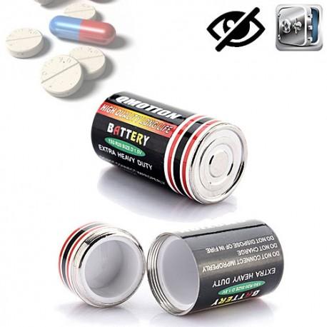 Batterie mit Getarnte Versteck. Perfekt zum Aufbewahren von Pillen, kleinen Schmuckstücken-Wertgegenständen.