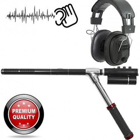 Hochleistungs-Richtmikrofon. Optimierte Leistung, speziell für Lausch-Observationen in offenem Gelände.