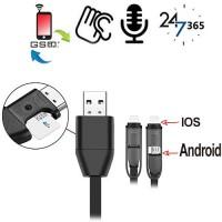 GSM-Abhörgerät in Handyladekabel für IOS und Android Handys